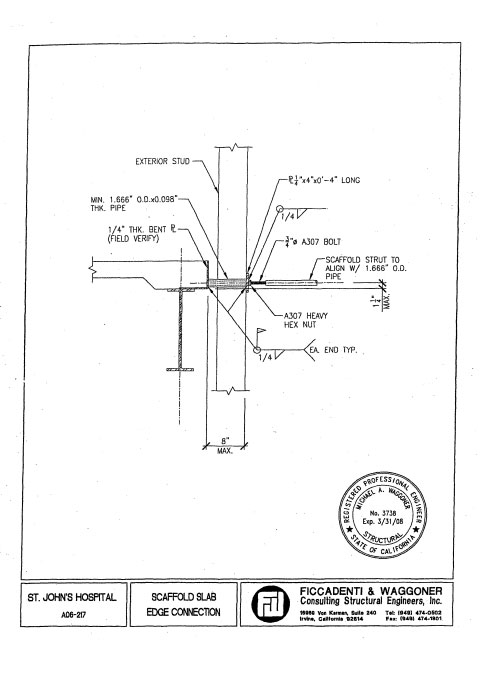 Page seven of peak load testing report compiled by Smith-Emery Laboratories