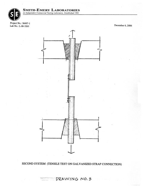 Page ten of peak load testing report compiled by Smith-Emery Laboratories